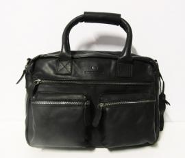 MicMacbags Westernbag (leer) werktas dames/heren art. 16194 - zwart
