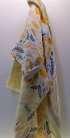 Damesshawl art. 4164 - geel/grijs/blauw