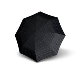 Knirps T.771 Long Automatic paraplu Check art. 96 3771 7602 - donkergrijs