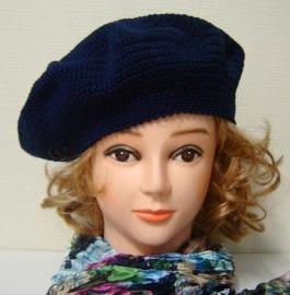 Damesbaret Anne - donkerblauw