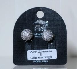 Fiell oorclip art. 8729 - zilverkleur