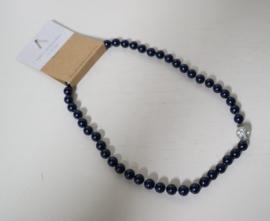 Parelketting met magneetsluiting art. 9100135430 - donkerblauw/zilverkleur