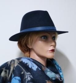 Stetson Powell Traveller hoed art. 2598123 - blauw gemêleerd
