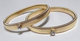 Mouwophouders Zirkonia  - goudkleur