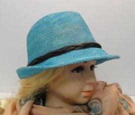Kinderhoedje Sasja - aquablauw