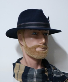 Stetson Traveller Woolfelt hoed Roanley art. 2528117 - donkerblauw