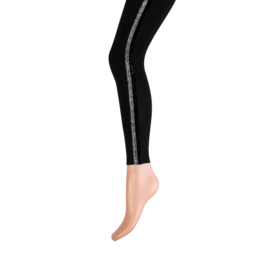 Yellow Moon long legging art. 20249 - zwart met zilverbies