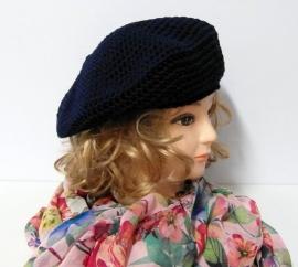 Damesbaret Eva 15 - donkerblauw