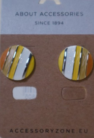 Oorbel steker art. 3590 - geel/oranje