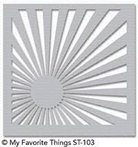 My favorite things - Sunrise radiating rays stencil