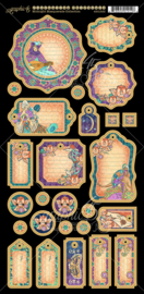 Graphic 45 - Midnight masquerade journaling chipboard
