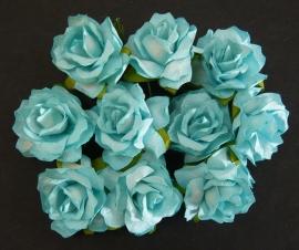 Paper roses, 30 mm. aqua