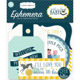 Carta Bella - Rock-a-bye baby boy die-cuts