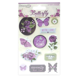 Dovecraft - Butterfly kisses puffy stickers