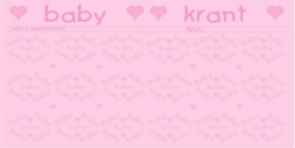 Spread-set - roze baby krant