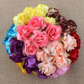 Paper roses, 30 mm. mix