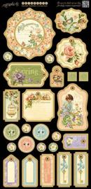 Graphic 45 - Secret garden chipboard