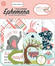 Carta Bella - Rock-a-bye baby girl frames en die-cuts