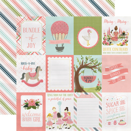 Carta Bella - Rock-a-bye baby girl journaling 3x4