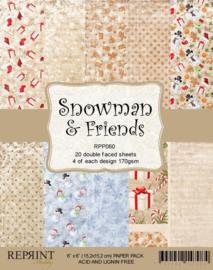 Reprint - Snowman and friends
