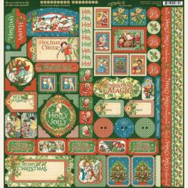Graphic 45 - Christmas magic  stickervel