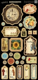 Graphic 45 - Times Nouveau chipboard