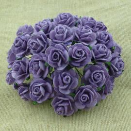 Paper roses, 15 mm. lavendel