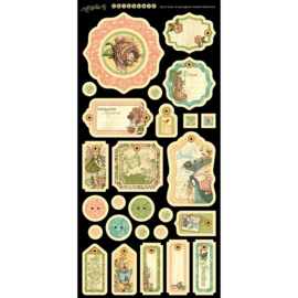Graphic 45 - Once upon a springtime  chipboard