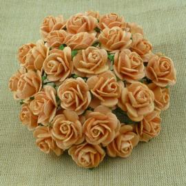 Paper roses, 15 mm. peach