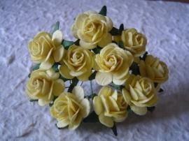 Paper roses, 20 mm. geel