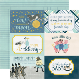 Carta Bella - Rock-a-bye baby boy journaling 4x6