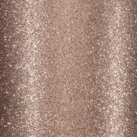 Cardstock - bruin glitter - zelfklevend