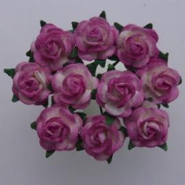 Paper roses, 10 mm. rose 2-tone