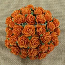 Paper roses, 15 mm. oranje
