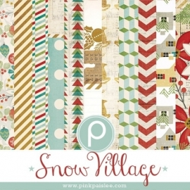 Pink Paislee - Snow village