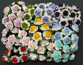 Paper roses, 15 mm. mix
