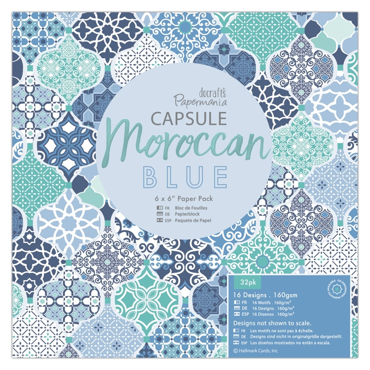 Papermania - Moroccan blue