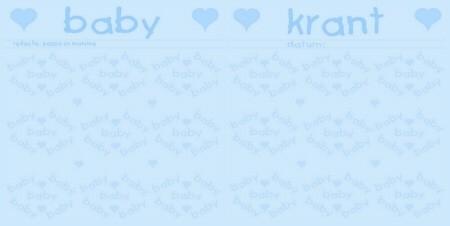 Spread-set - blauwe baby krant
