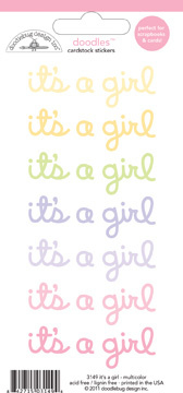Doodlebug - Baby girl cardstock stickers