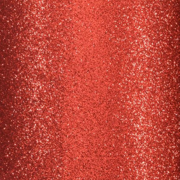 Cardstock - rood glitter - zelfklevend
