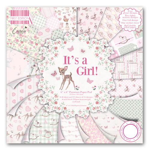 First edition - It's a girl 30x30
