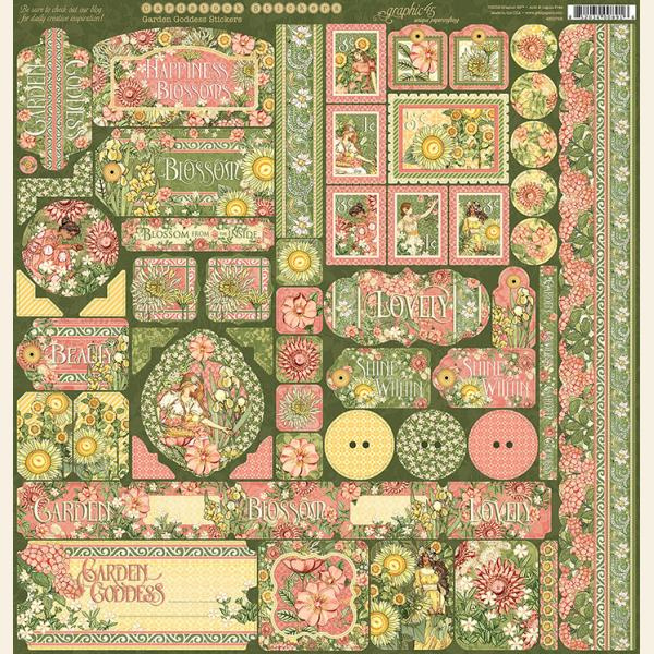 Graphic 45 - Garden goddess stickers