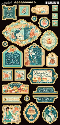 Graphic 45 - Cafe parisian chipboard