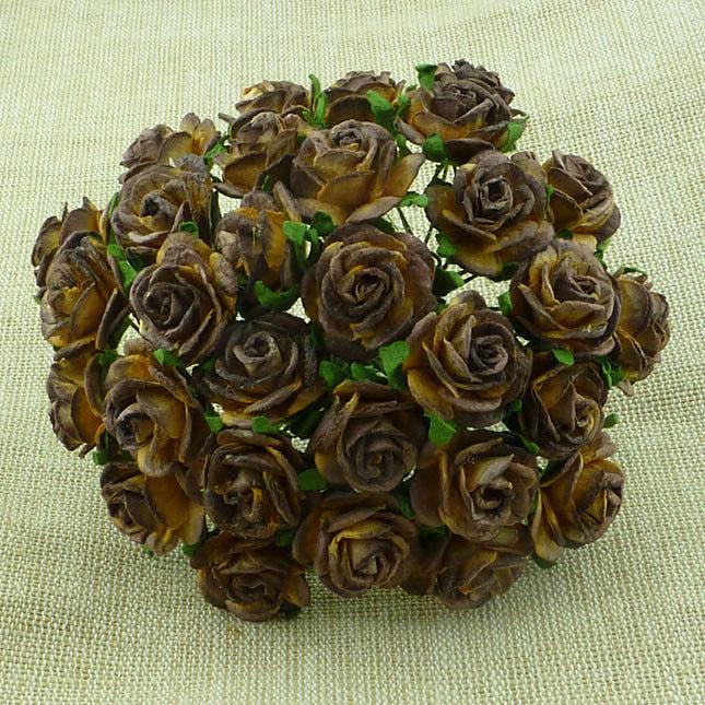 Paper roses, 15 mm. chocola