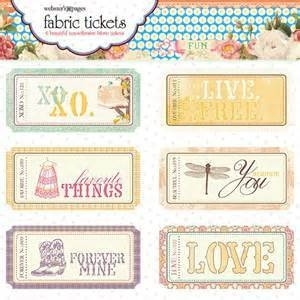 Webster`s Page - Western romance fabric tickets