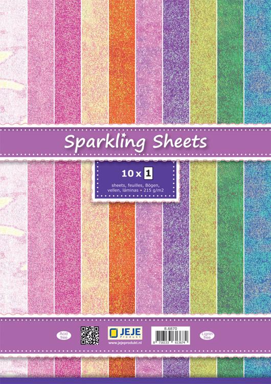 Cardstock A5 - Glitter papier set