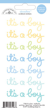 Doodlebug - Baby boy cardstock stickers