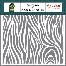 Echo park - Animal safari - stencil