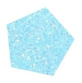 Flexfolie Glitter Fluor pastel blauw  5 m x 7 cm