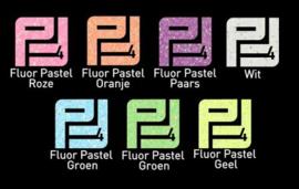 Pakket flexfolie glitter Fluor pastel  (7 vel)  30 x 50 cm